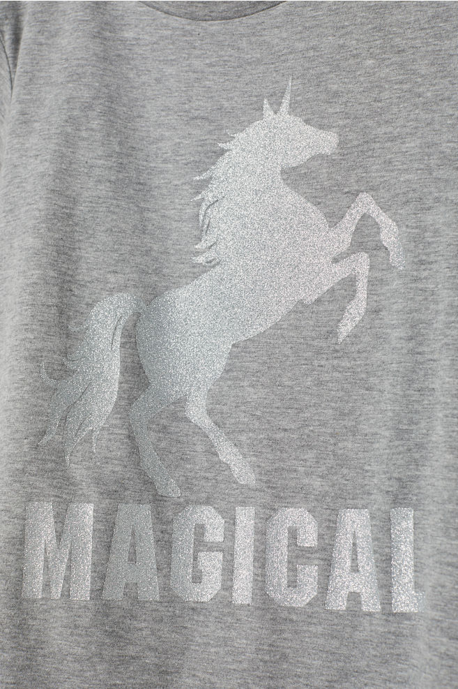 1c6582776 T-shirt with Printed Design - Gray/unicorn - Kids | H&M ...