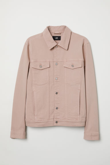 Denim jacket - Dusky pink - Men | H&M