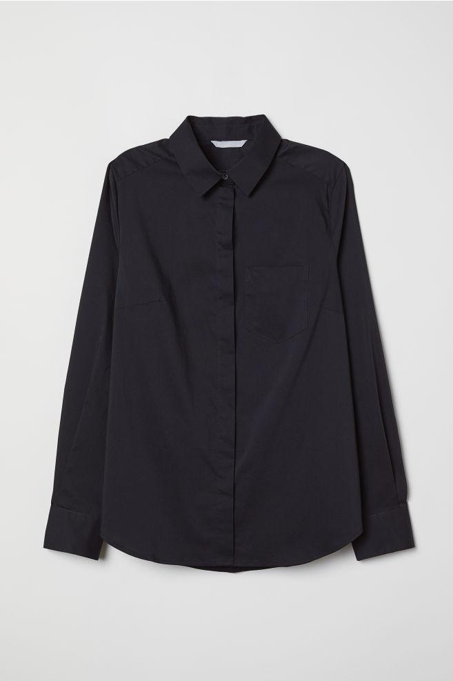3ecce820879 Figursyet skjorte - Sort - DAME | H&M ...