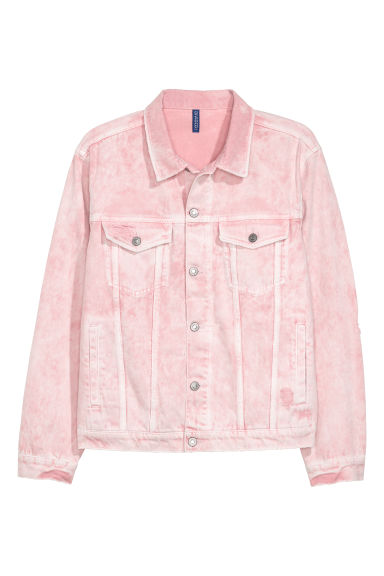 Denim jacket - Light pink - Men | H&M CN