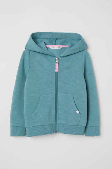 Hooded jacket - Turquoise - Kids | H&M CN