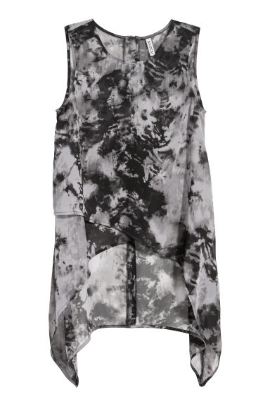 Sleeveless blouse - Grey-black - Ladies | H&M CN