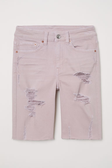 Knee-length denim shorts - Dusky pink - Ladies | H&M CN