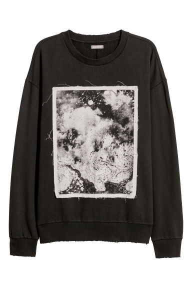 Sweatshirt with a motif - Black - Men | H&M CN