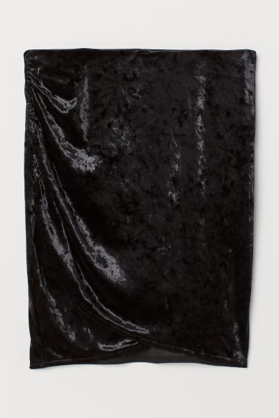 H&M - Falda en terciopelo arrugado - 5