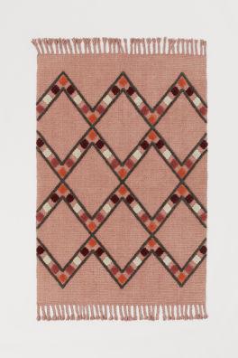 Patterned Wool Blend Rug