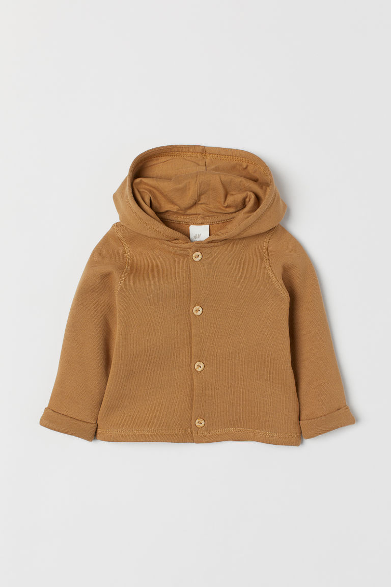 Hooded cardigan - Dark beige - Kids | H&M IE