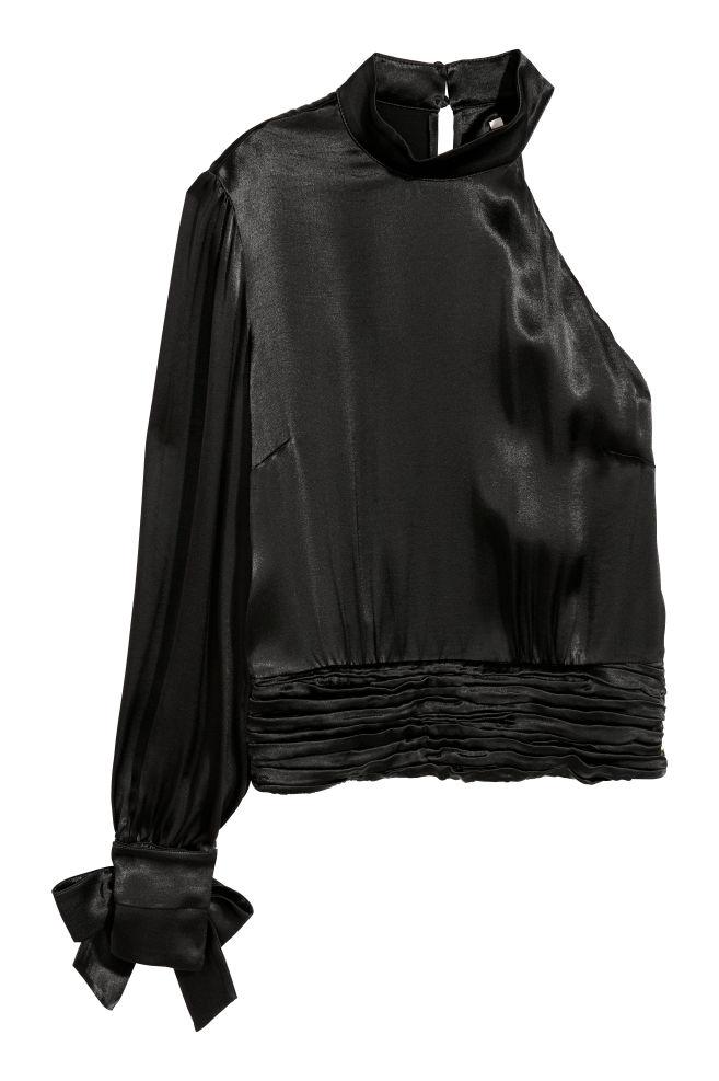 fb867914dac7d Satynowy top - Czarny - ONA | H&M ...