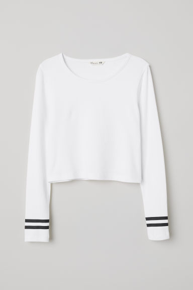 Tricot crop top - Wit - KINDEREN | H&M BE