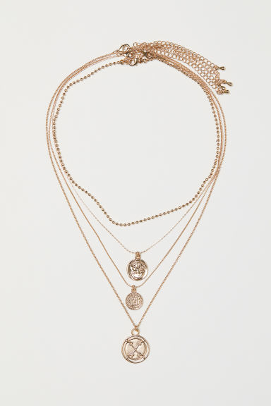 4-pack necklaces - Gold-coloured - Ladies | H&M CN