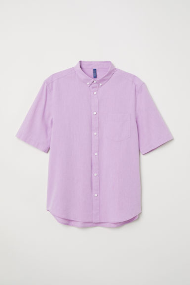 Cotton shirt Regular Fit - Light purple - Men | H&M