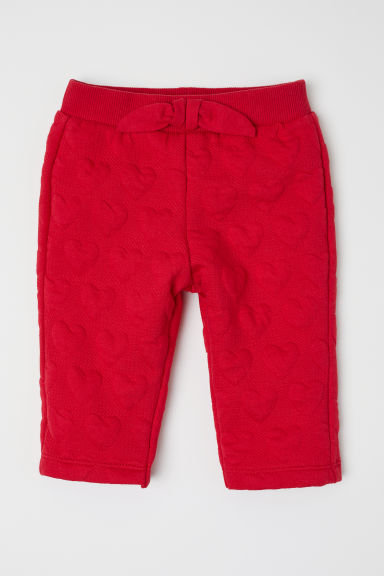 Trousers - Red/Hearts - Kids | H&M CN