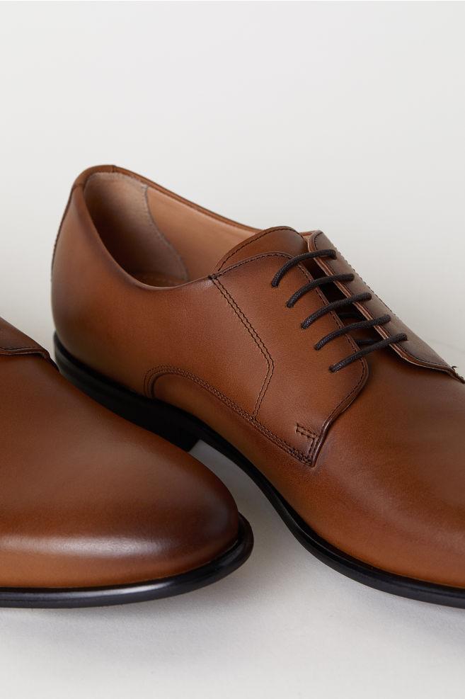 Bőr Derby cipő - Konyakbarna - FÉRFI  f28937a4f7