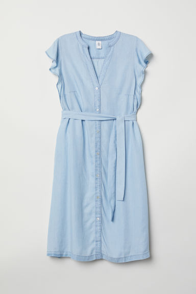 MAMA Lyocell dress - Light denim blue - Ladies | H&M