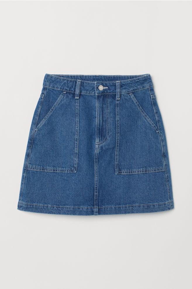 4c6e0538f ... A-line Denim Skirt - Denim blue - | H&M ...
