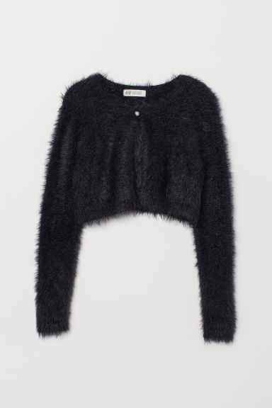 Fine-knit bolero - Black - Kids | H&M