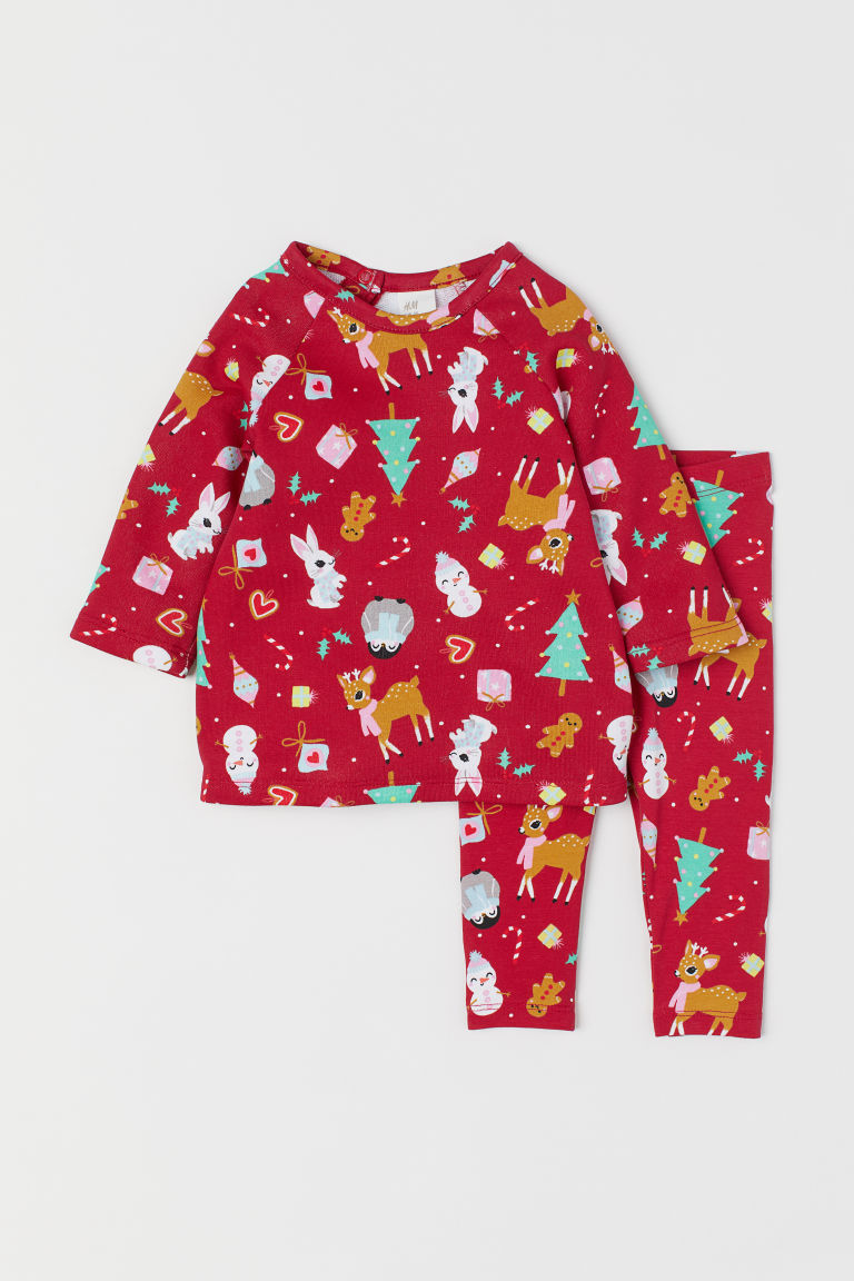Dress and leggings - Red/Patterned - Kids | H&M