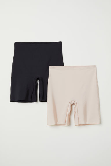 H&M+ 2-pk light shaping shorts - Black/Chai - Ladies | H&M
