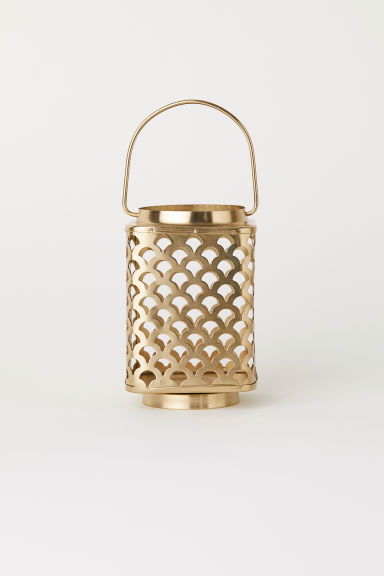 Metal lantern - Gold-coloured - Home All | H&M CN