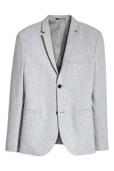 Jacket Super skinny fit - Light grey marl - Men | H&M CN