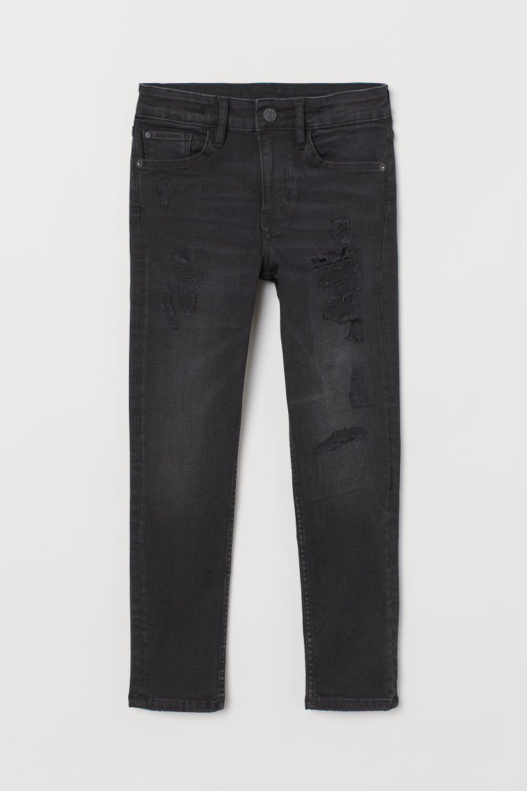 Superstretch Skinny Fit Jeans - Nearly black/Trashed - Kids | H&M IE