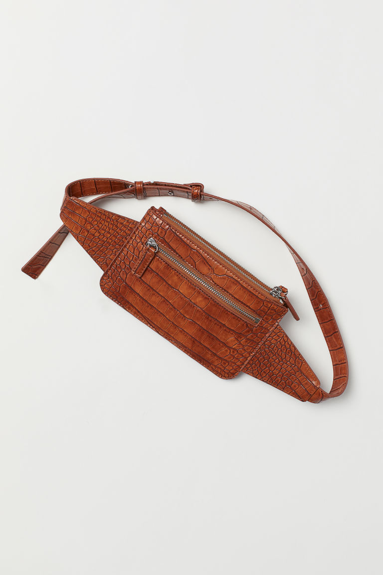 Grained Belt Bag - Brown - Ladies | H&M US