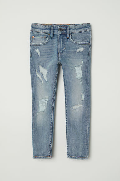 Skinny Fit Jeans - Albastru-denim/Trashed - COPII | H&M RO