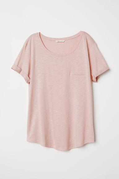 Slub jersey T-shirt - Old rose - Ladies | H&M