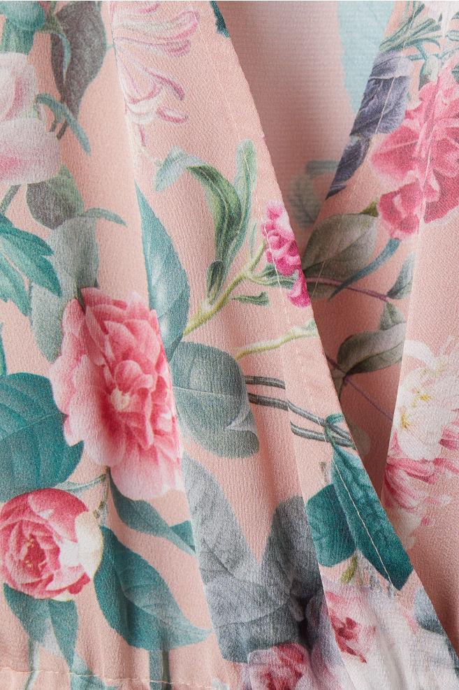 9a6d5c204181 Camicetta a kimono - Rosa cipria fiori - DONNA