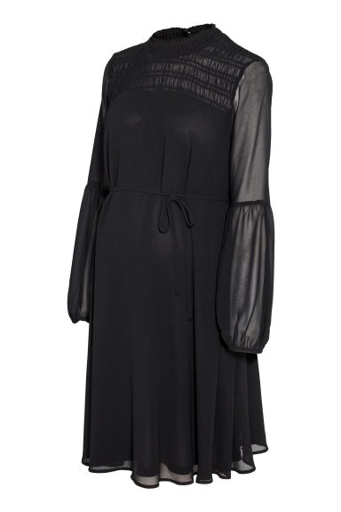 MAMA Chiffon dress - Black - Ladies | H&M