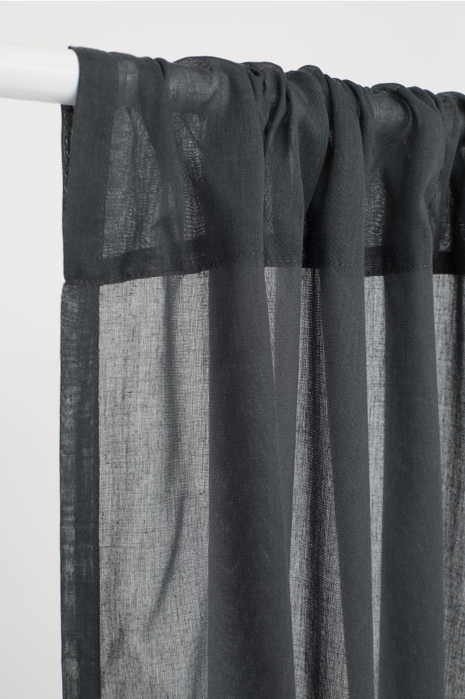 Lot de 2 rideaux - Gris anthracite - Home All | H&M CA