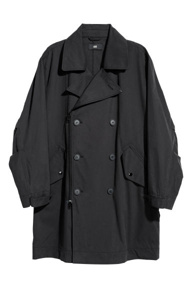 Double-breasted coat - Black - Men | H&M