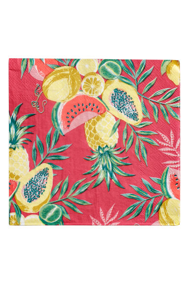 Paper napkins - Red/Fruit - Home All | H&M CN
