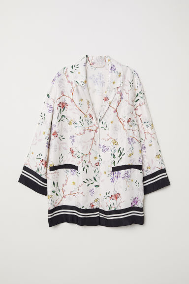 Wide jacket - Cream/Floral - Ladies | H&M
