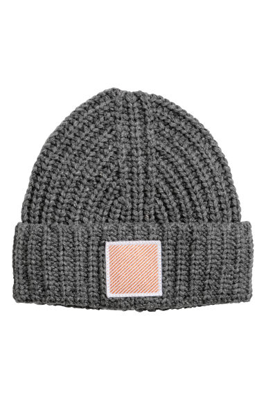 Knitted hat - Dark grey - Ladies | H&M GB
