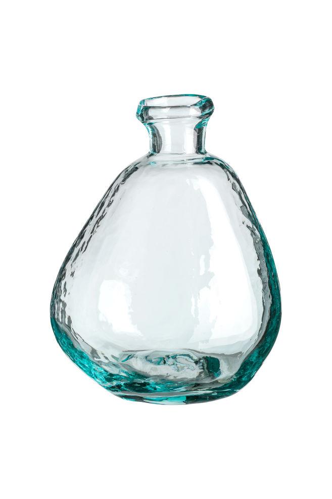 Asymmetrical Glass Vase Clear Glass Hm Us