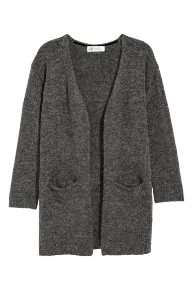 Knitted cardigan - Dark grey -  | H&M