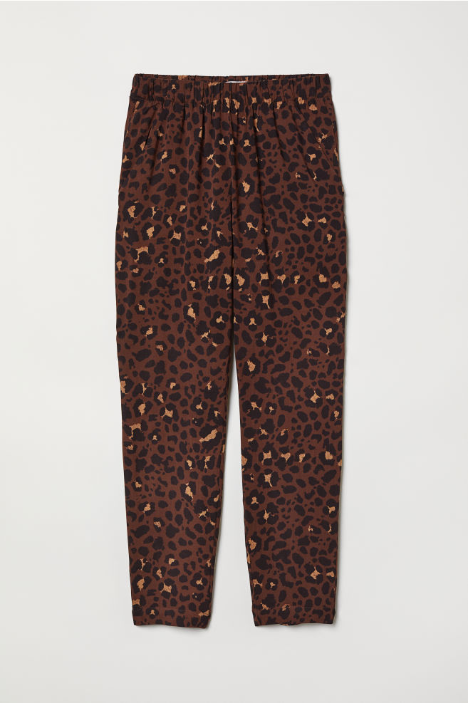 a446dcf1dd39 Pull-on Pants - Brown/leopard print - Ladies | H&M ...