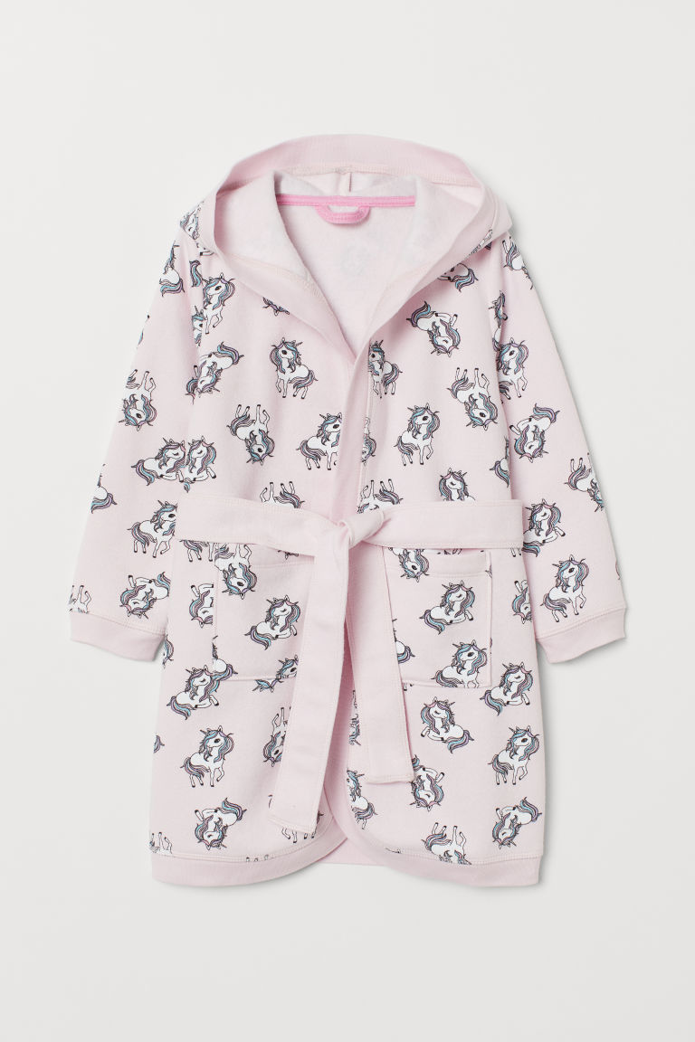 Dressing gown - Light pink/Unicorns - Kids | H&M