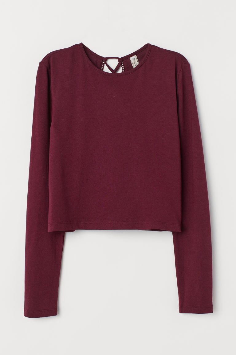 Shirt mit Schnürung - Weinrot - Ladies | H&M AT