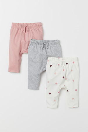 3-pack jersey trousers