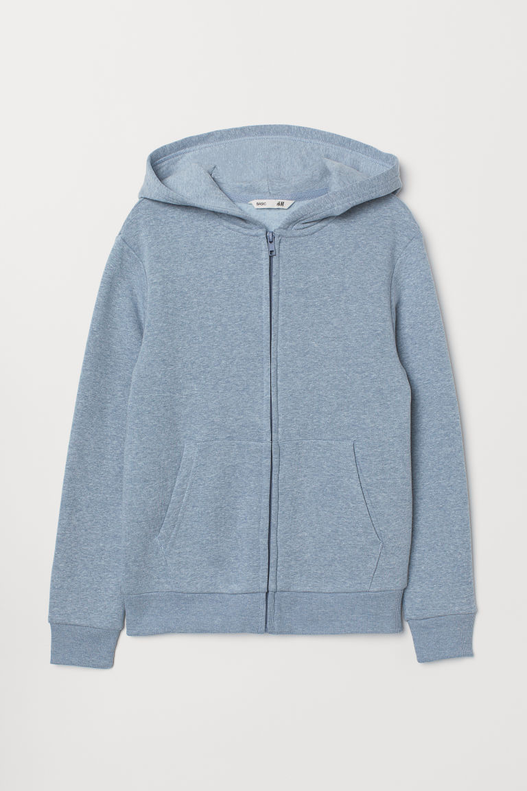 Hooded jacket - Light blue marl - Kids | H&M