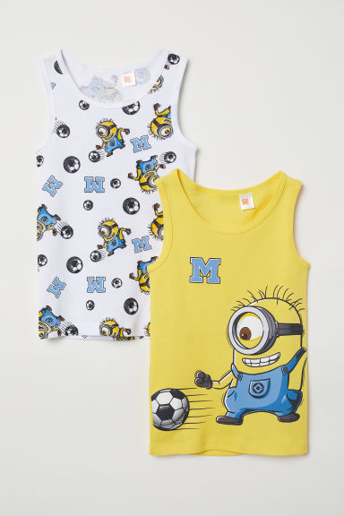 2-pack vest tops - Yellow/Minions - Kids | H&M