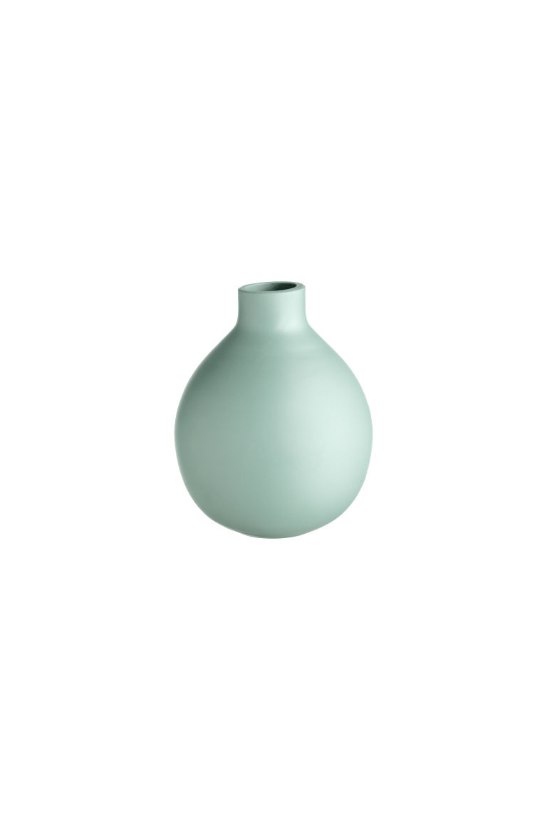 Small glass vase - Dusky green - Home All | H&M CN