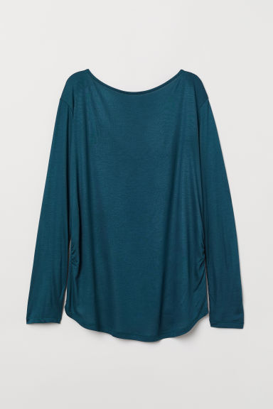 MAMA Jersey top with ties - Petrol - Ladies | H&M CN
