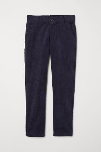 Cotton chinos - Dark blue - Kids | H&M