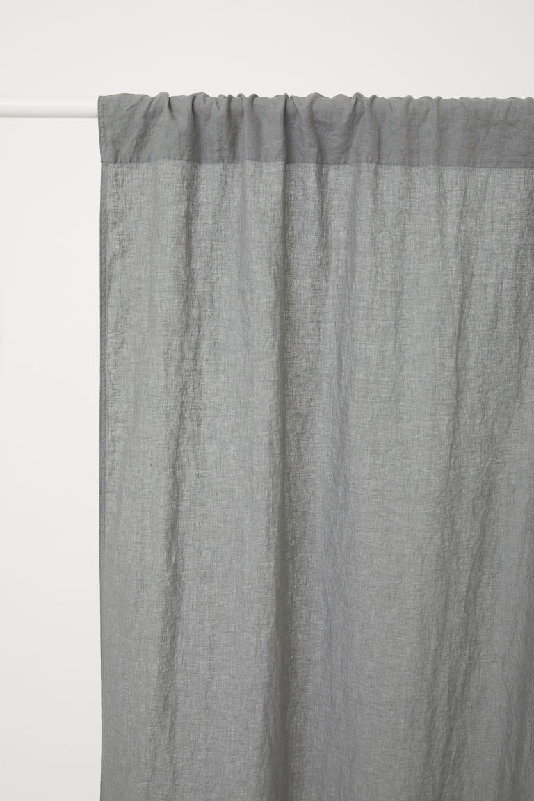 2-pack Linen Curtain Panels - Gray - Home All | H&M CA