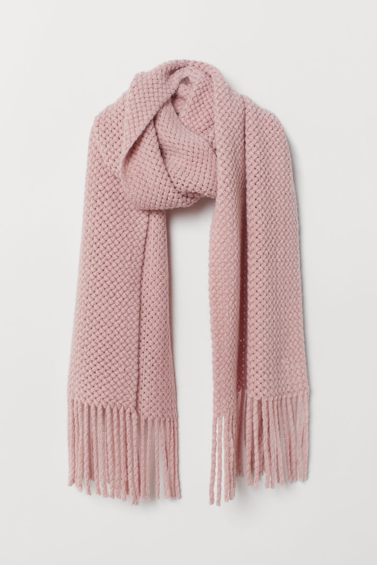 Large scarf - Light pink - Ladies | H&M CN