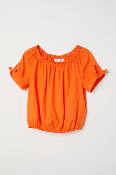 Top in viscosa - Arancione - BAMBINO | H&M IT