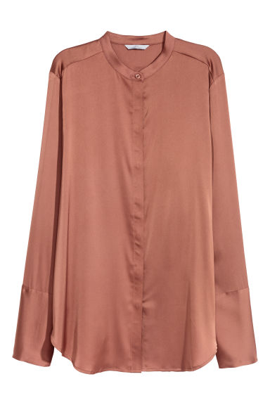 Satin blouse - Rust -  | H&M